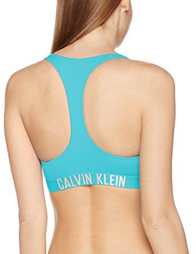 Calvin Klein Damen Sport-BH Racer Back Bralette Blau (Blue Radiance 480)