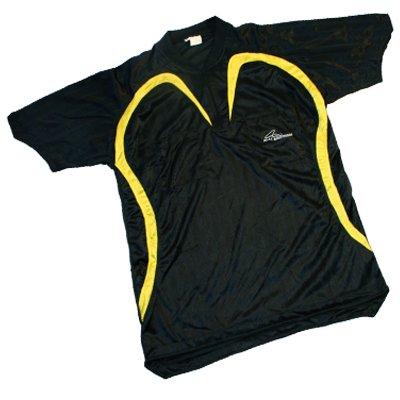 Schiedsrichter-Trikot + Hose + Stutzen Kurzarm, schwarz/gelb, Größe L