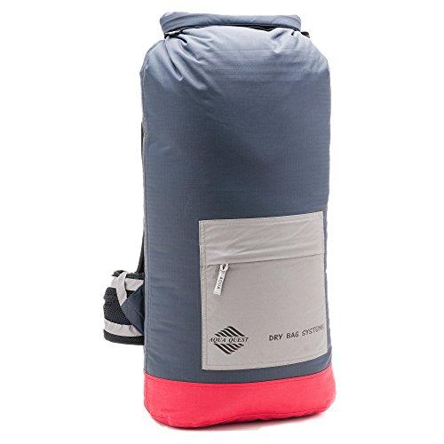 Aqua Quest RIO Rucksack - 100% wasserdicht Groß Heavy Duty Rucksack 40L Tragetasche für Wandern, Camping, Reisen für Männer, Frauen