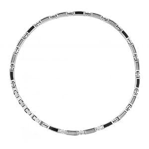 Phebus - 75/0083 - Collier Homme - Acier inoxydable - Câble - Carbone - Gris/Noir - 55 cm