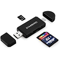 "KiWiBiRD® USB Type C lector de tarjetas SD/Micro SD/TF with USB Male & Micro USB Male Connector, Micro USB OTG & USB-A a USB-C Adaptador for Apple MacBook (2015, 12""), Google 2nd Chromebook Pixel (2015), Pixel C, Nexus 5X&6P, HP Spectre x2, Lenovo ZUK Z1, LG G5, HTC 10, more Type C Devices, Smartphones/Tablets with OTG Function, PCs and Notebooks"