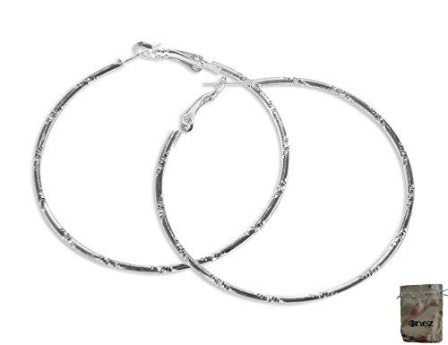 Preisvergleich Produktbild Original Enez Ohrringe Ohrhänger-Ohrstecker Creolen 6, 0cm T044 + Geschenkbeutel
