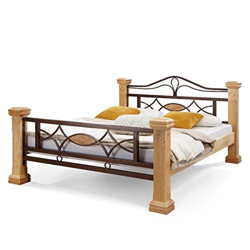 Massiv Holz Bett ROM Holzbett Natur Farbe in Buche 180x200cm 180 Ehebett Doppelbett -