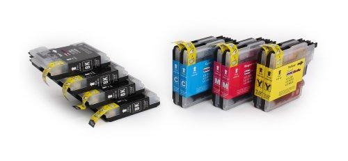 10 Cartouches d'encre compatibles avec BROTHER LC-985 | 4x Noir & 2x Cyan/Magenta/Jaune | pour BROTHER DCP-J125/J140W/J315/J315W/J515W & MFC-J220/J265W/J270W/J280W/J410/J415W