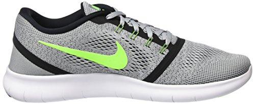 Nike Free Rn Scarpe da Ginnastica Grigio (Pr Platinum/Elctrc Grn-Anthrct)