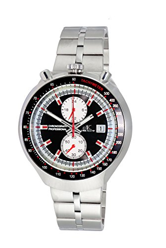 Adee Kaye Men's Quartz Stainless Steel Casual Watch, Color:Silver-Toned (Model: AK5662-MBK)
