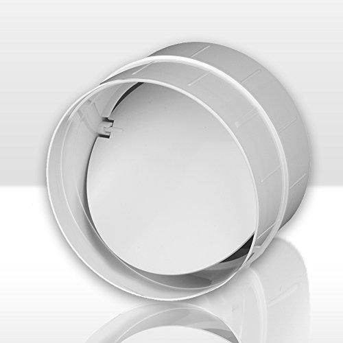 Verbinder Rückstauklappe Lüftungsrohr ABS Rundrohr Ø 100 Abluft-Rohr Awenta 100 mm , PVC Test
