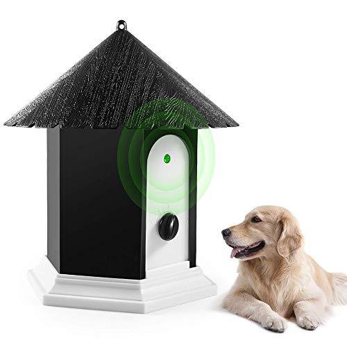 Controlador de ladridos para perros por ultrasonido Control de ladridos Silenciador Lucha de seguridad Entrenamiento seguro Dispositivo impermeable al aire libre en Birdhouse Rango trabajo de 50 pies