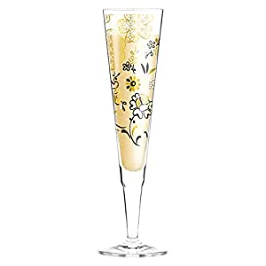 Ritzenhoff 1070225Design Verre à champagne, Flûte à Champagne avec Serviette en tissu, Helena Ladeiro, automne 2015