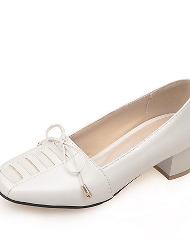 WSS 2016 Chaussures Femme-Bureau & Travail / Décontracté-Bleu / Vert / Rose / Blanc / Gris-Gros Talon-Confort / Bout Carré-Talons-Polyuréthane gray-us5 / eu35 / uk3 / cn34