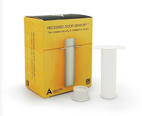 Aeotec Recessed Door Sensor Gen5, Invisible Z-Wave Plus sécurité et capteur d'ouverture/Fermeture, Alimentation par Batterie