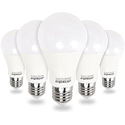 Aigostar - Bombilla LED E27 12W equivalente a 100 W, 6400K,1020 lúmenes, no regulable - 5 unidades[Clase de eficiencia energética A+]