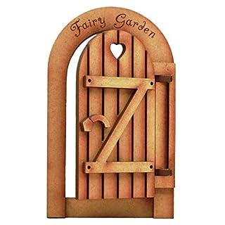 Öffnung Fairy Garden Fairy Tür. 3D Selbstmontage Kit Fairy Garden Gate Craft Holz, mit Arbeiten Scharniere....