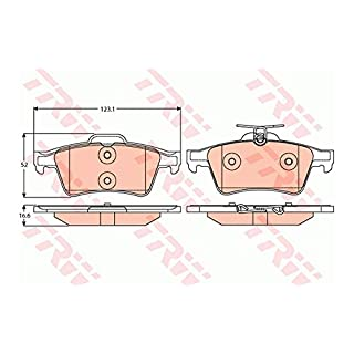 TRW GDB2086 4x Bremsbeläge hinten