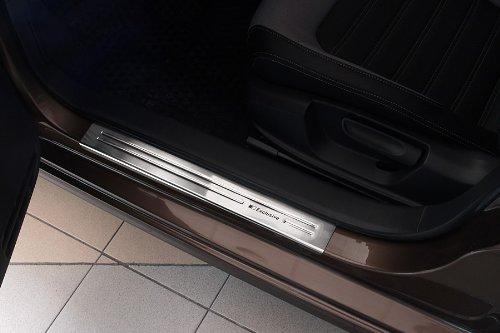 Farbe:schwarz matt Tuning-Art 839 Edelstahl Einstiegsleisten Set