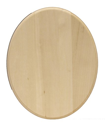 Walnut Hollow Basswood Oval Plaque – 8-inch x 10 x 0.75-inch