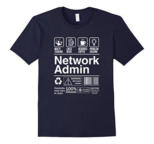 network-admin-shopping-label-problem-solver-t-shirt-herren-grosse-l-navy