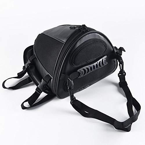 WOSAWE Motorrad-Rücksitztasche Helmkoffer Wasserdicht Gepäckträgertasche Tank Tasche Paket Satteltasche (Träger Für Motorrad)