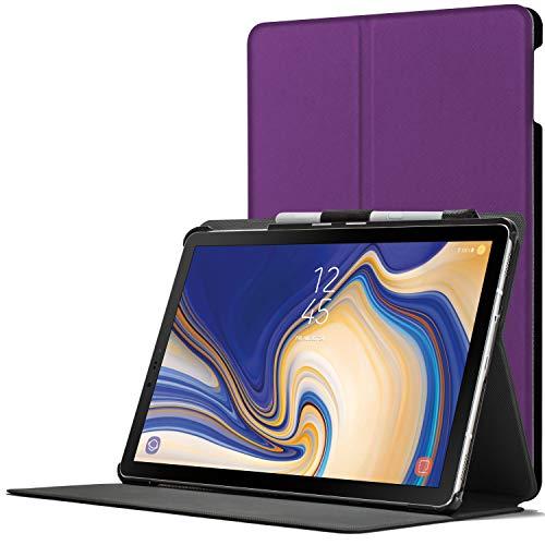 Forefront Cases Smart Hülle kompatibel für Samsung Galaxy Tab S4 10.5 | S-Pen Stifthalter | Magnetische Cover Galaxy Tab S4 10.5 Zoll Tablet-PC SM-T830/T835 | Auto Schlaf Wach Dünn Leicht | Violett
