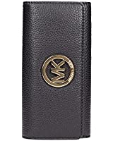 Women's Michael Kors Fulton Flap Continental Leather Wallet Black