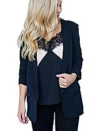 Heligen Mujer Abrigo de Simple-Fashion Invierno y OtoñO Elegantes Chaquetas de Traje y Blazers