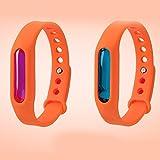 Quate Anti Mosquito Pest Repeller Repellente per Insetti Bugs Cinturino Band Wristband della zanzara deet-Free Non tossici Arancione Orange