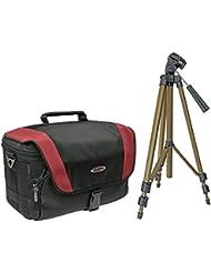Cámara de fotos Set Xtreme M bolsa con trípode de viaje para Sony Alpha 6300600051005000nex