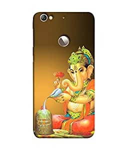 PrintVisa Ganesha Praying 3D Hard Polycarbonate Designer Back Case Cover for LeEco Le 1s :: LeEco Le 1s Eco :: LeTV 1S