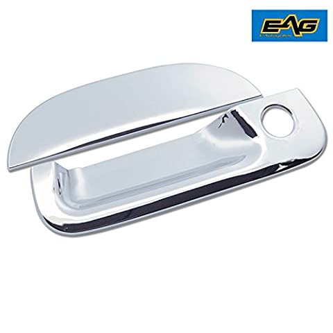 E-Autogrilles Triple Chrome Plated ABS Tailgate Handle Covers for 97-03 Ford F-150 / 04 Ford F-150 Heritage / 99-07 Ford F-250/350/450 / 01-05 Ford Explorer Sport Trac (64-0301) by E-Autogrilles