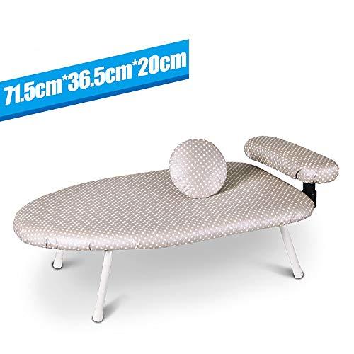 LOHOX Bügeltisch Bügelbrett zum Einfachen Bügeln Ihrer Wäsche auf Einem Tisch Oder Einer Arbeitsplatte Stabiles Tischbügelbrett Ideal für Kleine Haushalte oder Unterwegs 71.5 x 36.5(LxW)