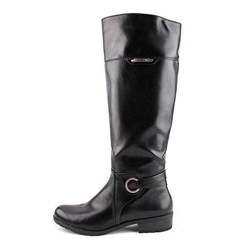 Alfani Frauen Jadah Geschlossener Zeh Fashion Stiefel Schwarz Groesse 5.5 US/36 EU (High Boot Mid Slouch)