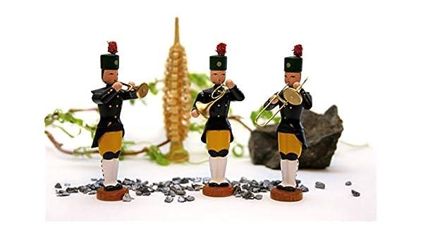 Bergmannskapelle Höhe ca  5,5 cm NEU Wei 5 teilig Miniatur Bergaufzug um 1850