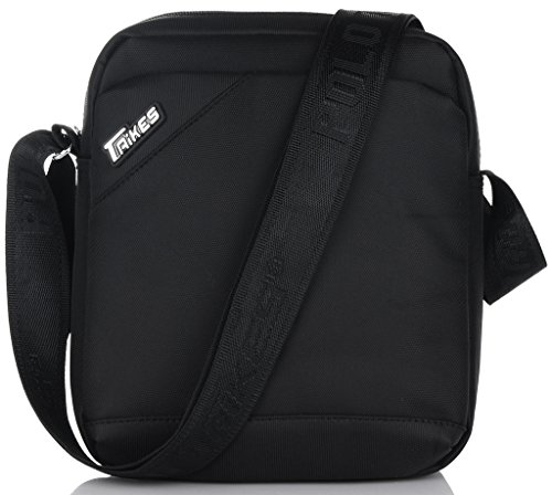 Binlion TAIKES Men's Shoulder Travel Messager Bag Crossbody Ipad Bag Daypack Black-3