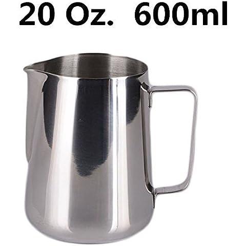 Acciaio inossidabile Caffè Espresso Pitcher Barista 150ml 350ml 600ml Cucina Casa Craft Caffè Latte Latte schiuma brocca 600ml