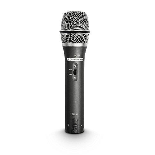 Adam Hall - Microfono Dinamico USB/XLR con Uscita per Cuffie D1USB