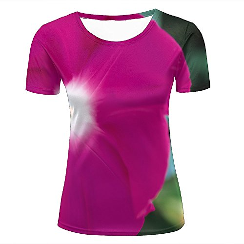 Morning Glory Tee (Fashion Womens Mens 3D Printed Photography - Flowers Morning Glory Graphic Short Sleeve Tee Tops Couple T-Shirts M)