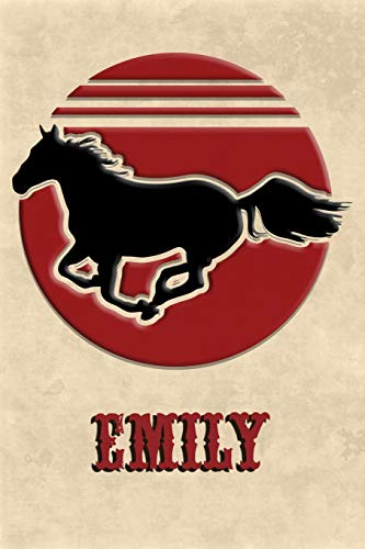 Wild Horse Lined Notebook: Emily: College Ruled | Composition Book | Diary | Lined Journal