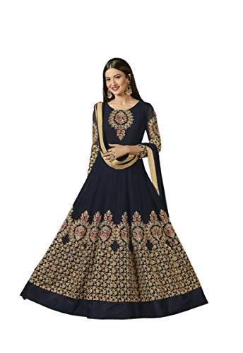 Indian Bollywood Designer Georgette Anarkali Salwar Kameez Semi-Sttiched A1135 Georgette Churidar