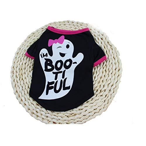 Haustier Hundekleidung Hemd Nette Weste Lustiger Karikatur Druck Rundhals, Der GemüTliches Welpen Katze T Shirt Halloween KostüM TräGt