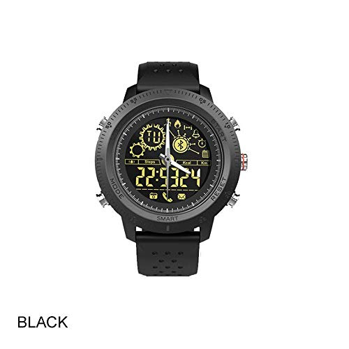 LWPCP Sportuhr Smart Armband Fitness Tracker Monitor Casual Handgelenk Band,Black