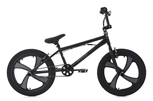 KS Cycling Rise BMX Freestyle Unisex Kinder, schwarz