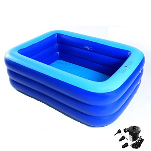TONG YUE SHOP Aufblasbarer Pool Verdicken Großer Raum Erwachsener Quadratischer Pool Marine Ball Pool für Baby (mit elektrischer Luftpumpe * 1) (größe : 200cm)