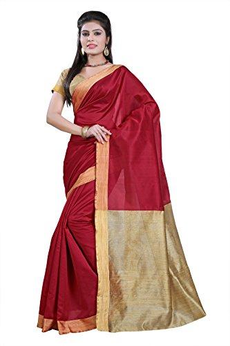 E-Vastram Cotton Silk Saree (Kpm-3 _Red)