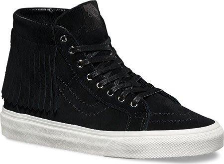 Vans Sk8-Hi Moc (suede) black/blanc schwarz (black)