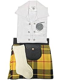 Macleod de Lewis tartán ropa de bebé ajustable de estilo celta, manguera, Sporran 0–24meses
