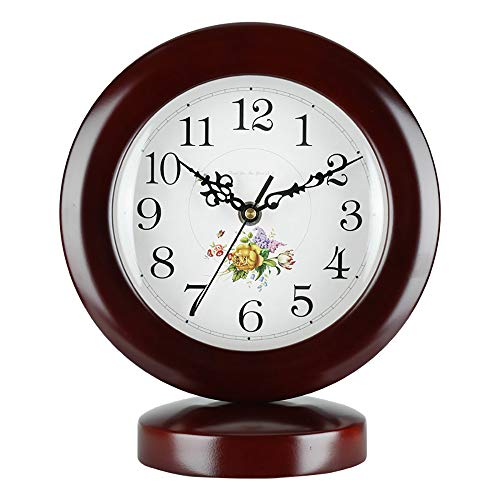 LJF Sencillo Reloj De Sala Creativo Arte Pastoral Reloj Chino De Madera Maciza Reloj De Cuarzo IKEA Adornos De Silencio...