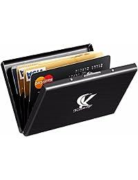 """véritable """"kanzy Ultra Slim RFID blocage Portefeuille Porte-cartes, en aluminium avec verrou en acier inoxydable, pour hommes et femmes White Gift Box"""