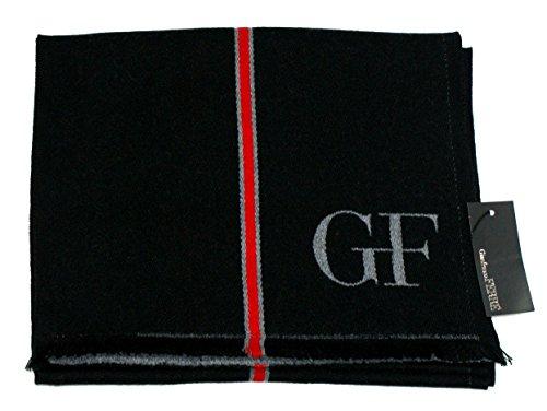 Gianfranco Ferre Sciarpa Unisex Doubleface Logata Made in Italy Cm 180x40 Nero