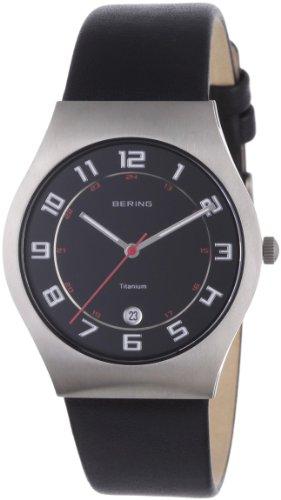 Bering Time - 11937-402 - Montre Homme - Quartz Analogique - Bracelet Cuir Noir