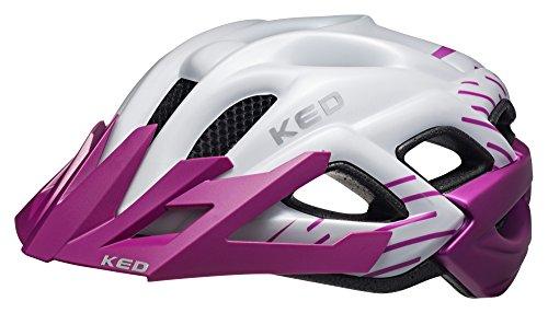 KED STATUS JUNIOR Kinder-und Jugendlichen Fahrradhelm violet pearl matt, Größe:49-55 cm, Farbe:violet pearl